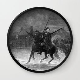 Washington At The Battle Of Trenton Wall Clock