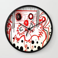 beard Wall Clocks featuring Beard by hARMONIEjoy