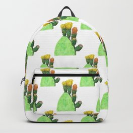 Opuntia ficus-indica in flower Backpack