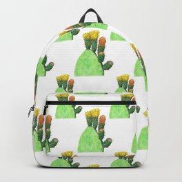 Opuntia ficus-indica in flower Backpack