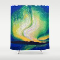lights Shower Curtains featuring Lights  by Shazia Ahmad