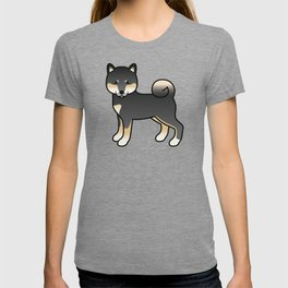 Black And Tan Shiba Inu Cute Cartoon Dog T-shirt