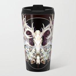 Deer And Crow Skulls Double Image Travel Mug