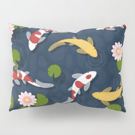 Japanese Koi Fish Pond Pillow Sham