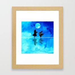 Magical Watercolor Night II - Alice In Wonderland Framed Art Print