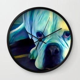 BOXER from our POP YOUR POOCH line Wall Clock