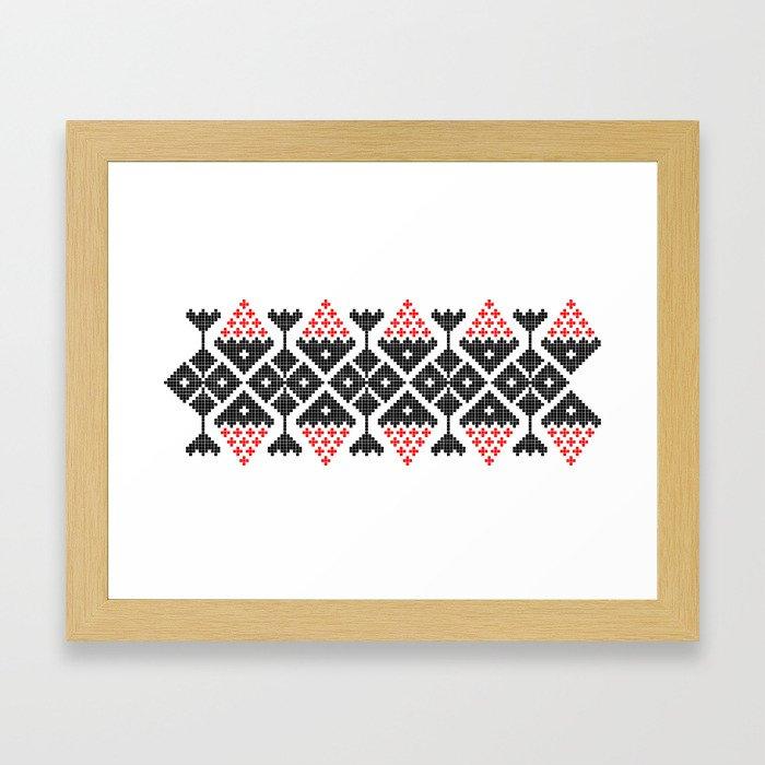 romanian traditional Framed Art Print