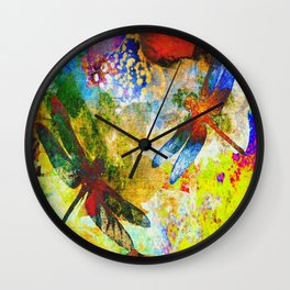 Silk Dragonflies QQ Wall Clock