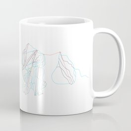 Loon Mountain, NH - Minimalist Trail Art Coffee Mug