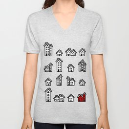 Little Houses Unisex V-Neck