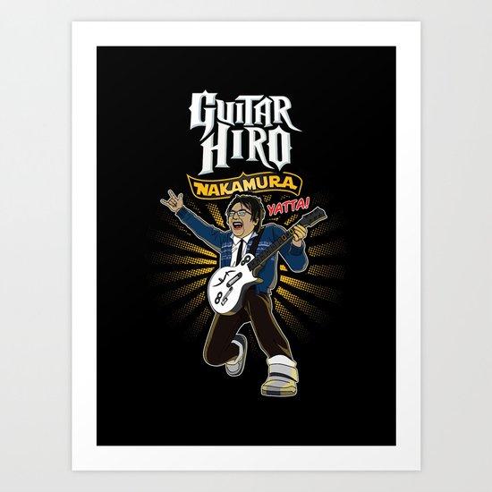 Guitar Hiro Nakamura Art Print