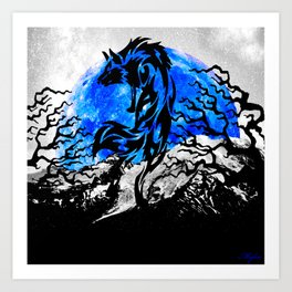 WOLF OF THE NIGHT Art Print