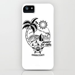 Against the Waves iPhone Case