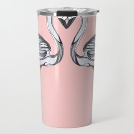 Monochrome  Flamingooooo Travel Mug