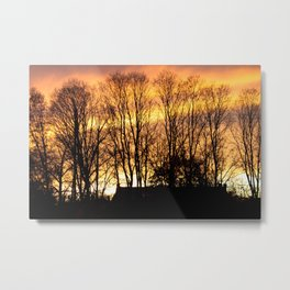 Brilliant Sunset - Northampton, MA Metal Print