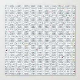 Binary Code Love Canvas Print