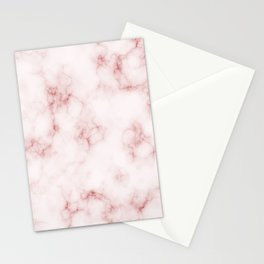 Amazing Light Marble with Coral Veins Stationery Cards