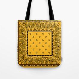 Gold and Black Bandana Tote Bag