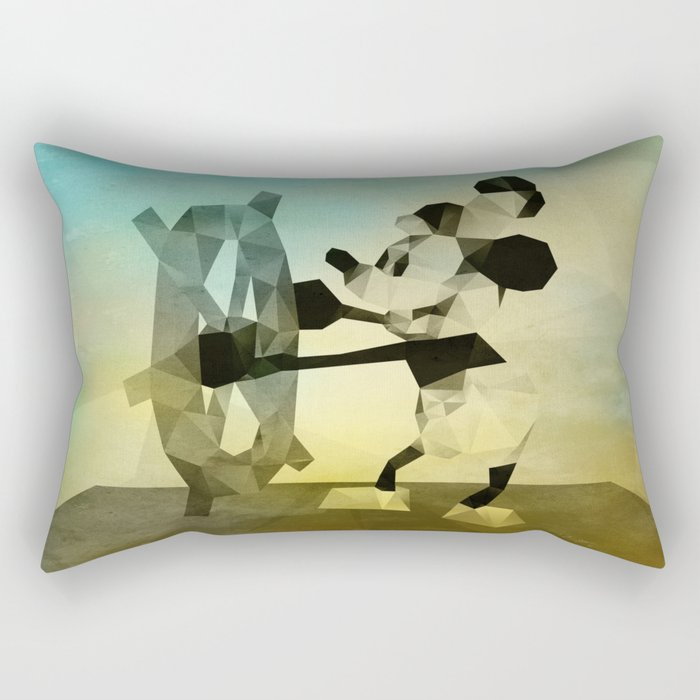 Mickey Mouse as Steamboat Willie Rectangular Pillow