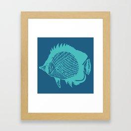 Swim Little Fish Framed Art Print