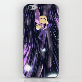 Earth in space iPhone Skin