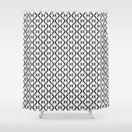 Kappa - Greek Fonts Patterns_Alphabet Shower Curtain