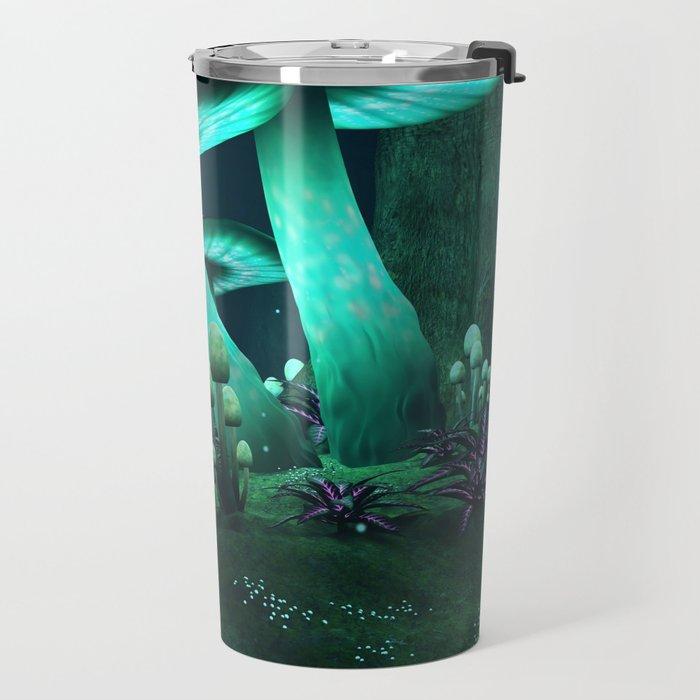 Luminous Mushrooms Travel Mug