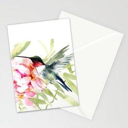 Hummingbird and Plumerias Stationery Cards