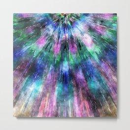Textured Watercolor Tie Dye Metal Print