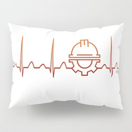 Engineer Heartbeat Pillow Sham