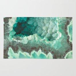 Minty Geode Crystals Rug