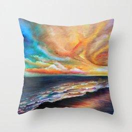 Uncle David's Sunset Throw Pillow