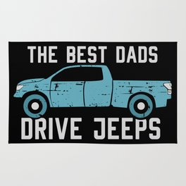 The Best Dads Drive Jeeps Rug