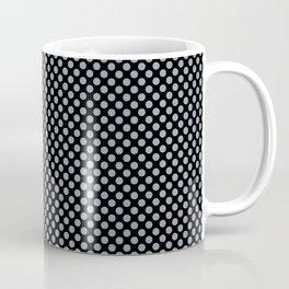 Black and Dusty Blue Polka Dots Coffee Mug