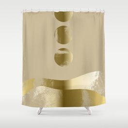 Rising Moon Over Golden Hills 01 Shower Curtain