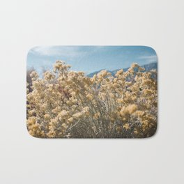 California Yellow Flowers Bath Mat