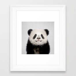Panda Bear - Colorful Framed Art Print