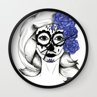 gothic Wall Clocks featuring Gothic by bexchalloner