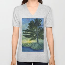 Let It Be by Teresa Thompson Unisex V-Neck