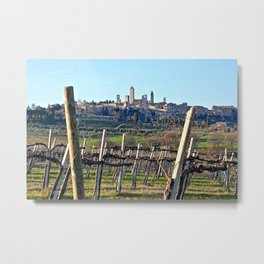 Tuscany's Town of Fine Towers Metal Print