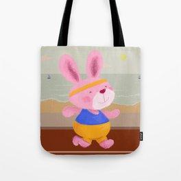 Bunny Runner Tote Bag