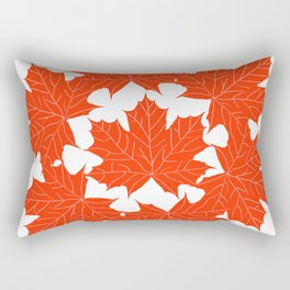 Red maple leaves pattern Rectangular Pillow