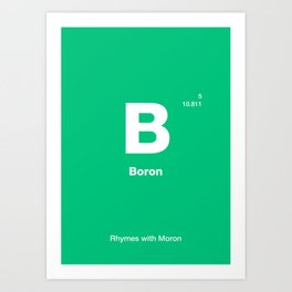 Boron Art Print
