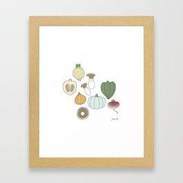 Vegetables (color) Framed Art Print