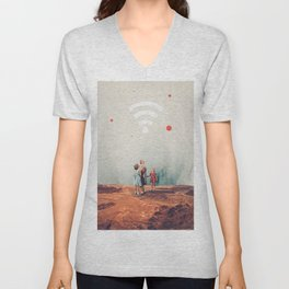 Wirelessly connected to Eternity Unisex V-Neck