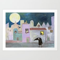 city of cats Art Print