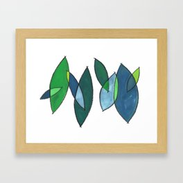 modern leaves Framed Art Print