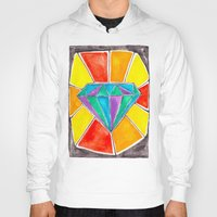 diamond Hoodies featuring Diamond by Laura Maxwell