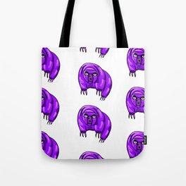 Purple Repeating Tardigrades Pattern Pop Art Tote Bag