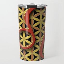 Flower of Life LEO Astrology Design Travel Mug